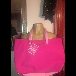 Fuchsia & Light Pink Tote Bag